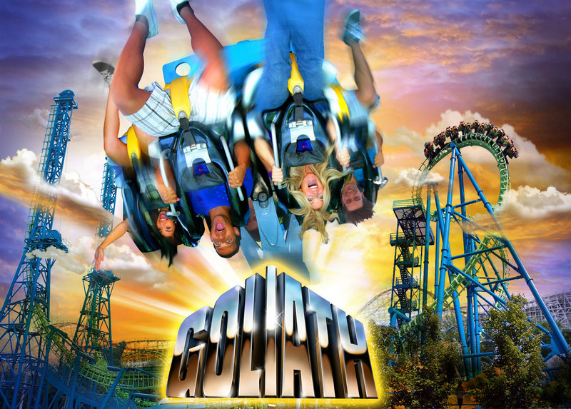 The new 200-foot coaster Goliath in Agawam, Mass., is one of a number of new attractions at amusement parks that may tempt thrill-seeking Mainers.