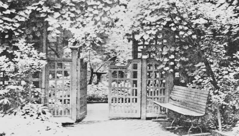 On June 2, when the Maine Historical Society holds its annual meeting, the children's gate is going to be reinstalled at the Longfellow Garden.
