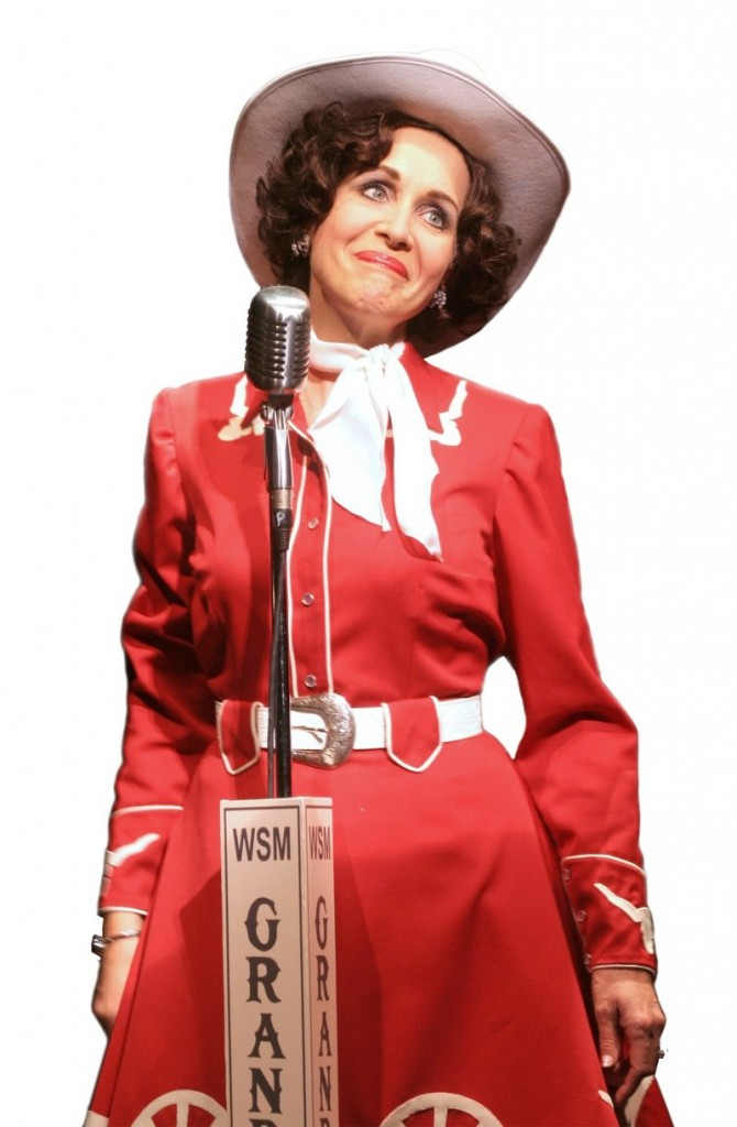 """Carter Calvert, who won a Tony Award nomination for the Broadway show """"It Ain't Nothing But the Blues,"""" stars as Patsy Cline as the Ogunquit Playhouse opens its 80th season with"""