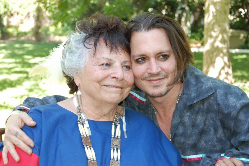 LaDonna Harris and Johnny Depp