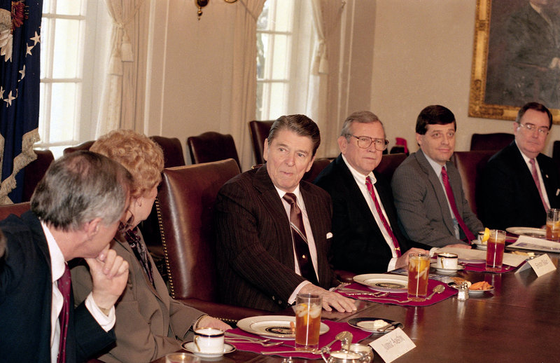President Reagan was hit by a ricochet bullet fired by John Hinckley Jr. in 1981. The vial supposedly dates from that incident.