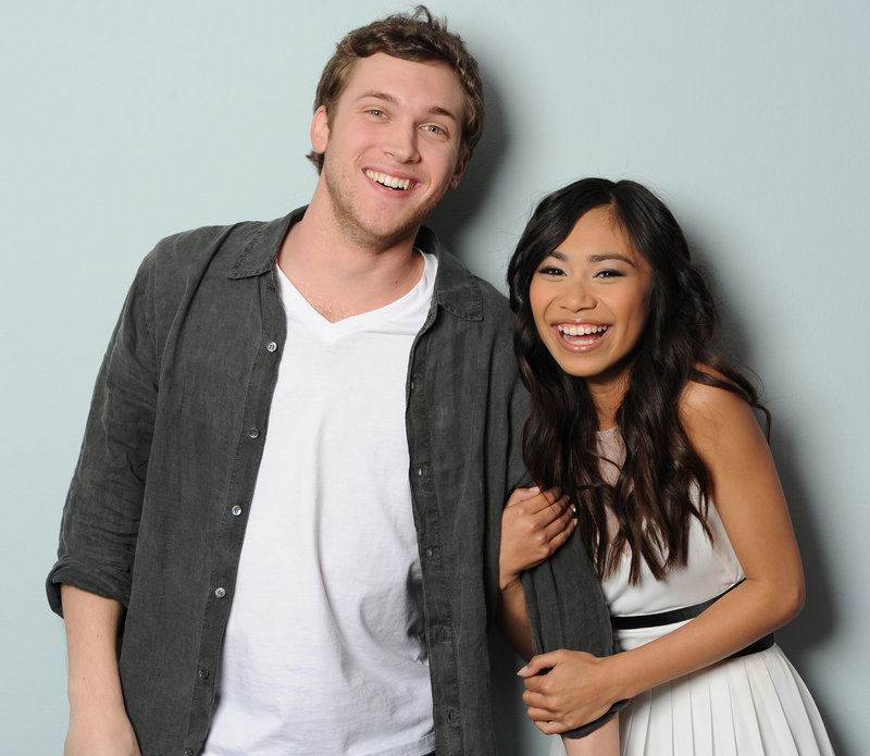 """American Idol"" finalists Phillip Phillips and Jessica Sanchez are shown in this photo provided by Fox."