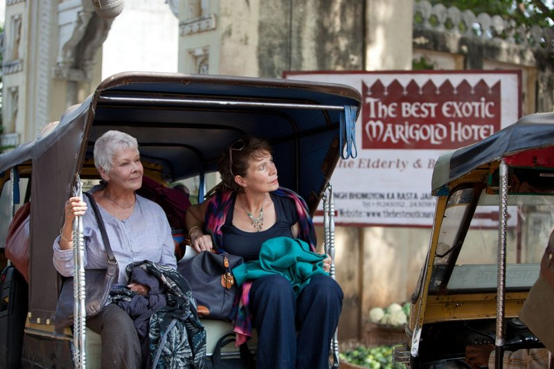 Judie Dench, left, and Celia Imrie are among a group of getting-on-in-years Brits who travel to India to live out their days in