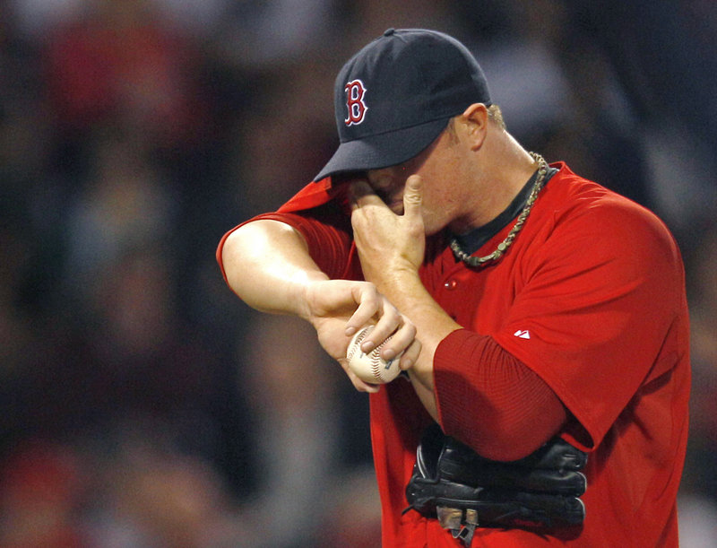 Jon Lester was the losing pitcher Friday night for the Red Sox, giving up a season-high three home runs.