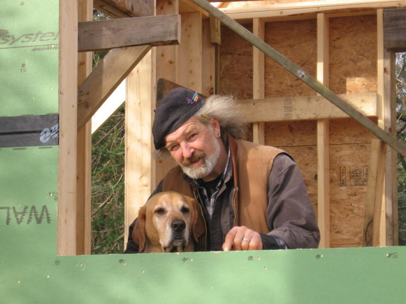 Michael Macklin, shown with Murphy the dog, was a carpenter, poet and teacher.