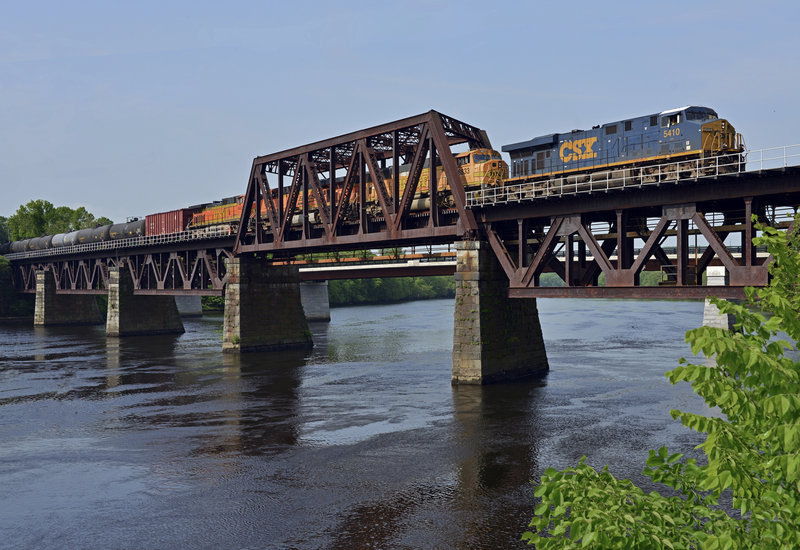 A train carrying 104 tank cars of crude oil from North Dakota rolls through Massachusetts last Saturday before crossing into Maine en route to the Irving Oil refinery in Saint John, New Brunswick – and more such shipments are expected.