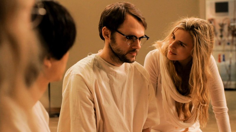 "Christopher Denham and Brit Marling in ""Sound of My Voice."""