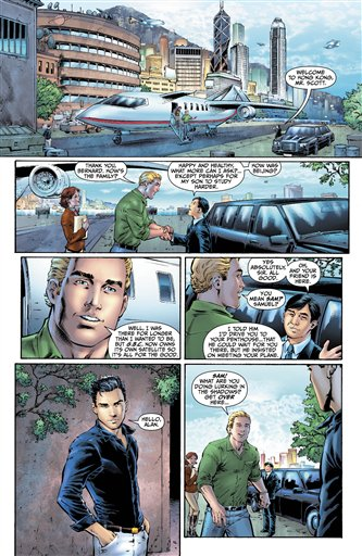 This image provided by DC Entertainment shows a page from the second issue of the company's
