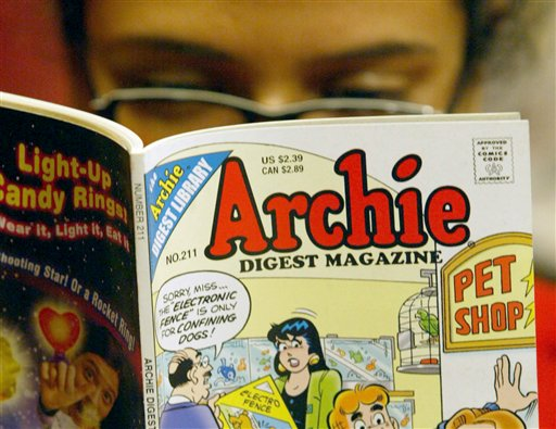 Debuted in 1941, carrot-topped Archie Andrews has percolated into pop culture from comics pages to airwaves. The fictional characters' band, the Archies, had a 1969 hit with