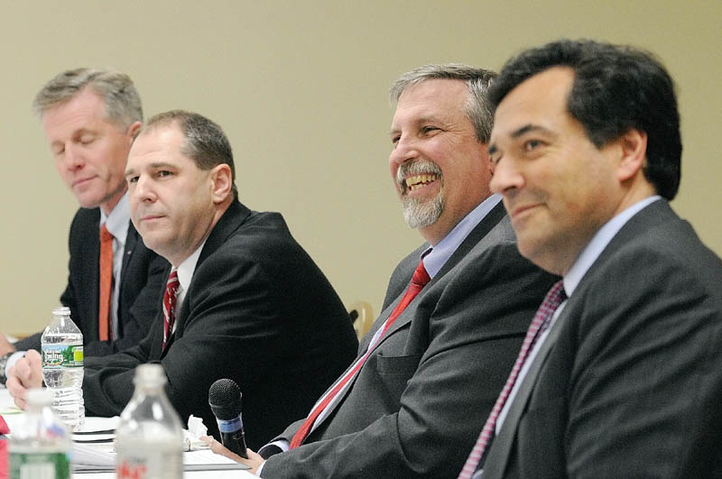 Republican candidates for U.S. Senate are, from left, Charlie Summers, Scott D'Amboise, William Schneider and Rick Bennett.