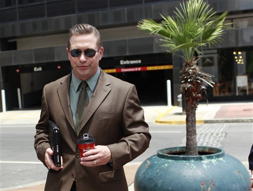 Actor Stephen Baldwin arrives at Federal Court in New Orleans in this June 4, 2012, photo.