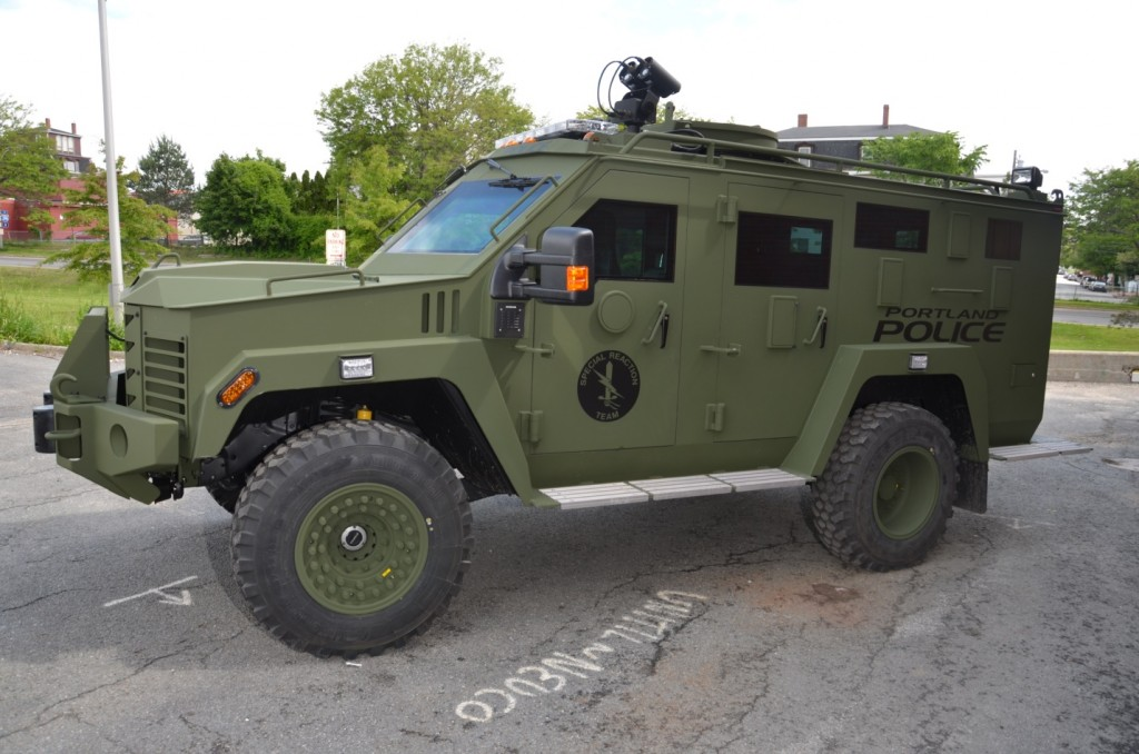 Portland's new armored rescue vehicle, the Bearcat, can be used as a shield to protect officers in hostage situations, standoffs, or when dealing with an armed shooter.