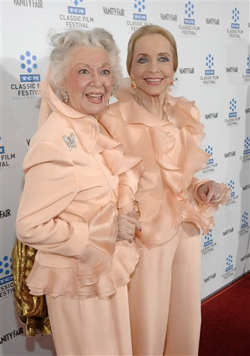 An April 22, 2010, photo of actresses Ann Rutherford, left, and Anne Jeffreys at the premiere of the newly restored feature film