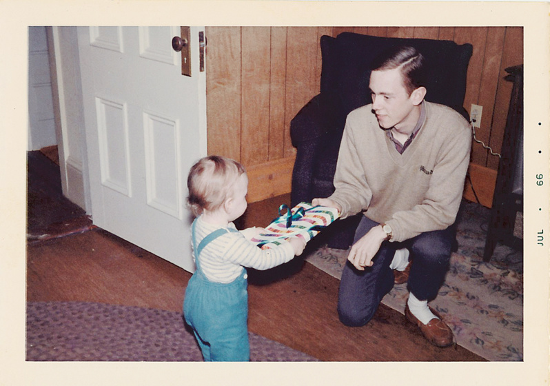 "Gift exchanging became an early habit between father Ellsworth ""Derry"" Rundlett and son Ellsworth ""Nick"" Rundlett."