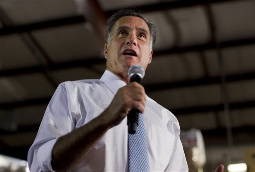 Republican presidential candidate Mitt Romney speaks during a campaign stop in Fort Worth, Texas, on Tuesday.