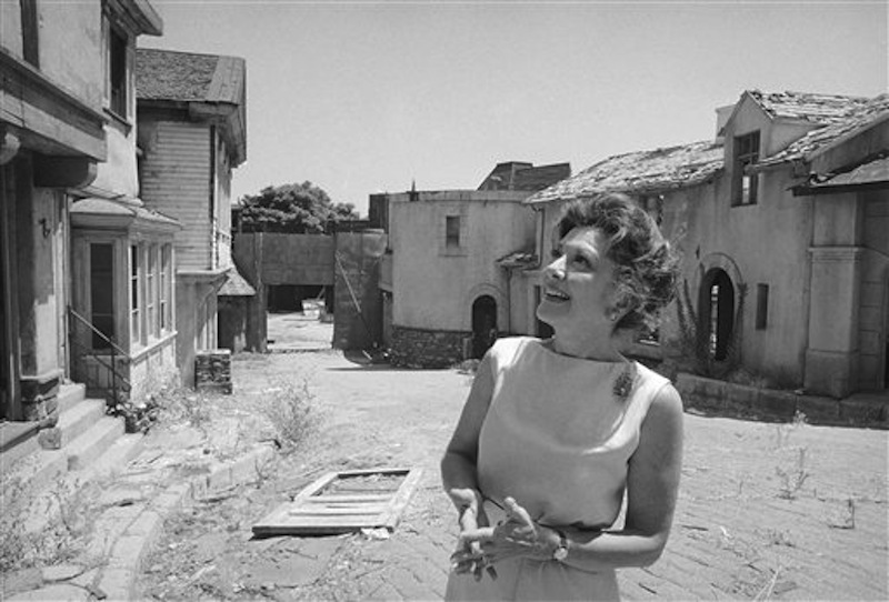 This July 26, 1972 file photo shows actress Ann Rutherford gazing at old sets on the MGM studioís Lot 2 in Los Angeles where she and Mickey Rooney filmed the Andy Hardy series. Rutherford, who played Scarlett O'Hara's sister Carreen in the 1939 movie classic