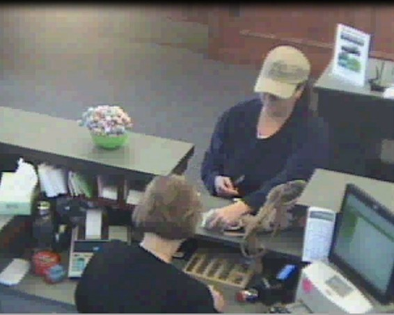 This police photo shows an image of the woman who robbed the Kennebunk Savings Bank located at Hannaford Drive in York on May 29.