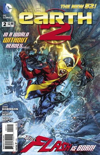 This image provided by DC Entertainment shows the cover of the second issue of the company's