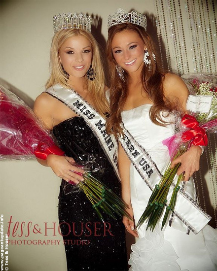 Miss Maine USA 2012 Rani Williamson, left, and Miss Maine Teen USA 2012 Molly Fitzpatrick.