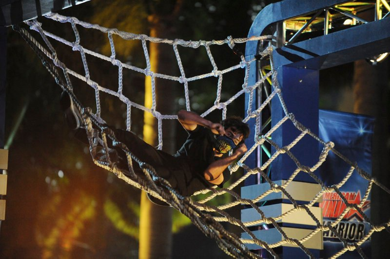 "Jesse Villarreal of Westbrook is seen competing Monday night on the TV show ""American Ninja Warrior"" on NBC. He qualified for the show's finals, which will begin airing July 8."