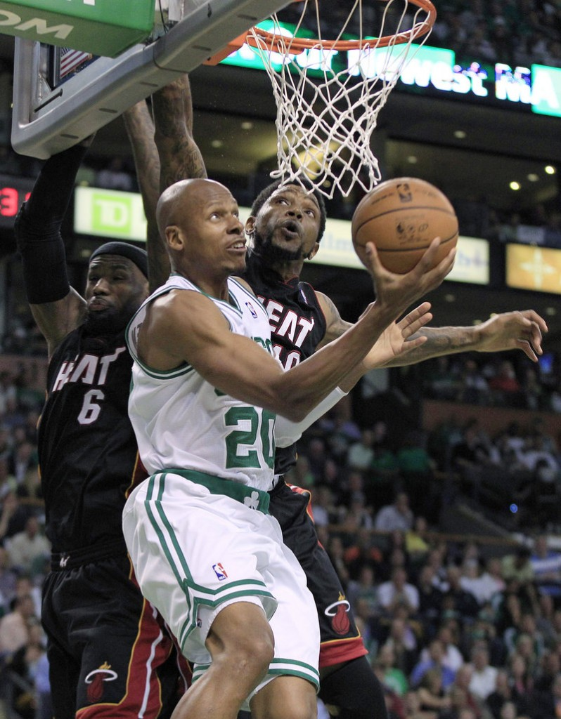 Ray Allen scored 16 points against Miami on Sunday in one of his best performances of this year's playoffs.