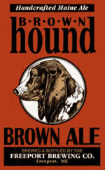 Freeport Brewing's Bown Hound Brown Ale was served recently at Great Lost Bear and Nosh in Portland.