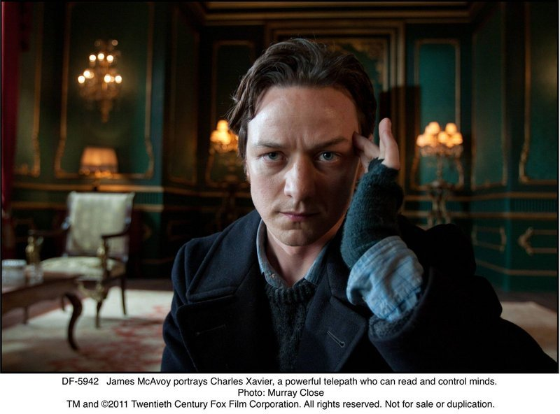 "James McAvoy in ""X-Men: First Class."""