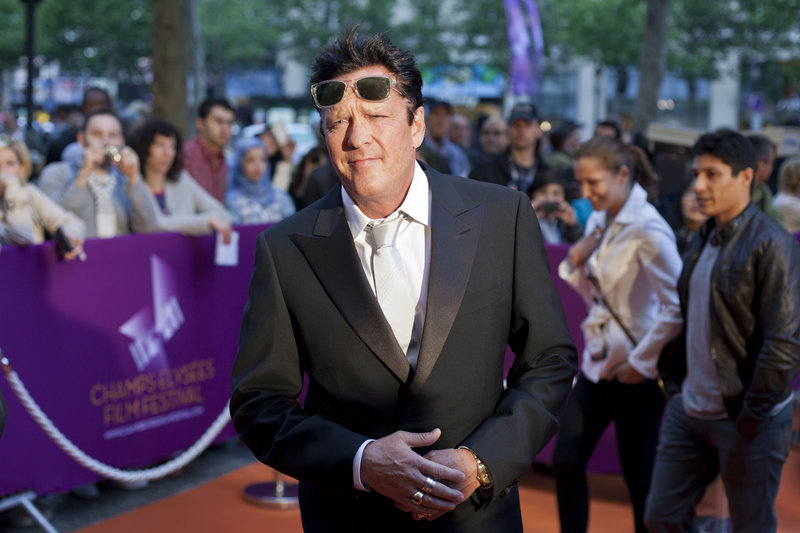"""American actor Michael Madsen arrives at the Champs Elysees Film Festival in Paris. """"People don't really expect me to be president of a film festival,"""" he said."""