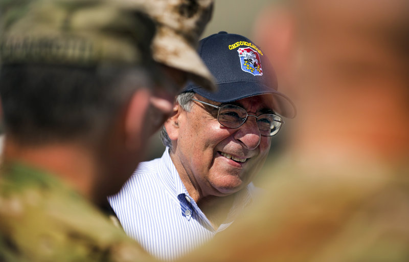 Defense Secretary Leon Panetta arrives at Kabul International Airport in Kabul, Afghanistan, on Thursday.