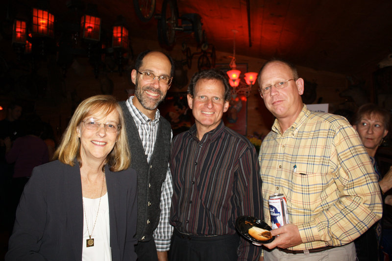 Allison Kuller, board member Jeff Kuller, past board president Jack Manheimer, and board member George Kiesewetter.