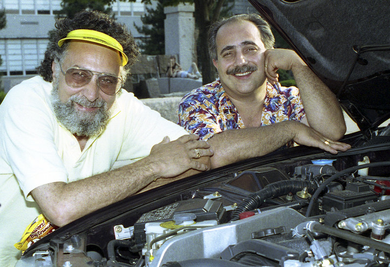 Brothers Tom, left, and Ray Magliozzi, seen in 1991, say they will stop making new episodes in September.