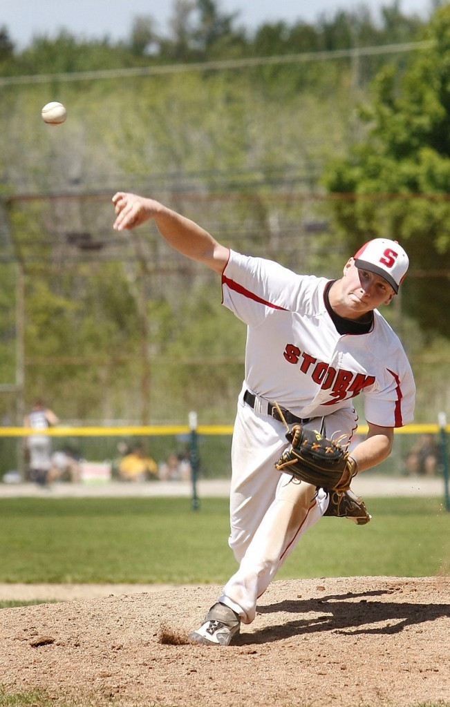 Ben Greenberg of Scarborough pitched a four-hit shutout and also collected three hits, including a triple.
