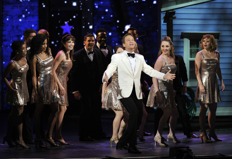 Host Neil Patrick Harris opens the Tony Awards on Sunday in New York with an original number in which he wished that real life were more like theater.
