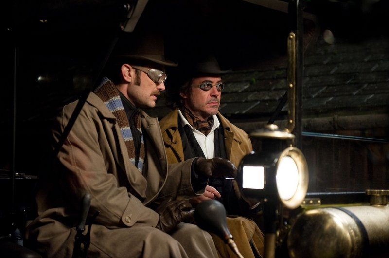"Jude Law, left, and Robert Downey Jr. in ""Sherlock Holmes: A Game of Shadows."""