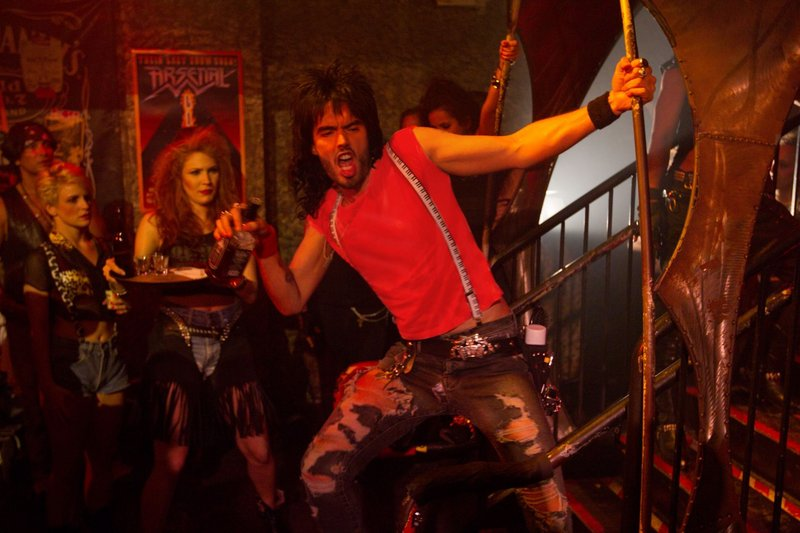 "Lonnie, played by Russell Brand, and other rockers sometimes behave badly in ""Rock of Ages."""