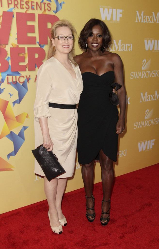 Meryl Streep, left, and Viola Davis
