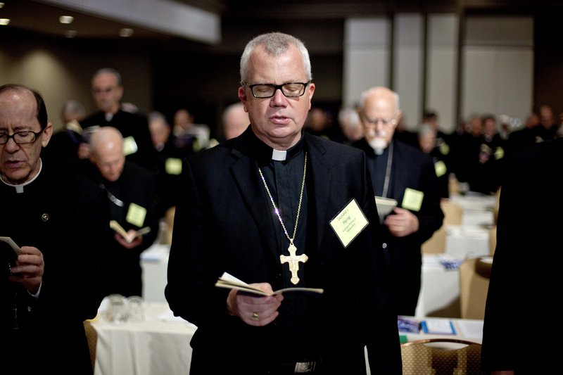 Donald Hying, a Wisconsin auxiliary bishop, and others at the Catholic bishops' meeting in Atlanta are planning two weeks of rallies and prayer services to promote religious freedom.
