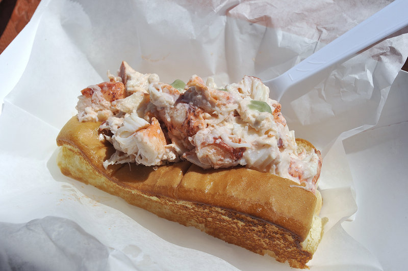 Bite Into Maine's wasabi lobster roll.