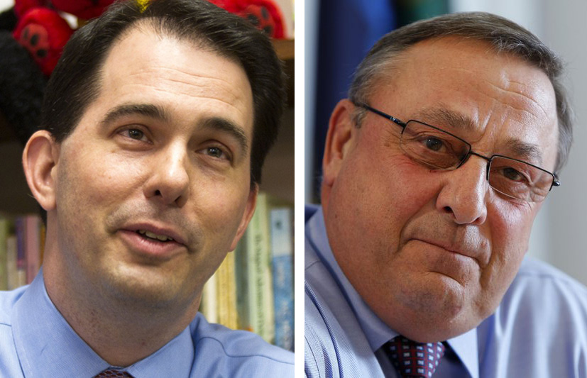 Wisconsin Gov. Scott Walker and Maine Gov. Paul LePage