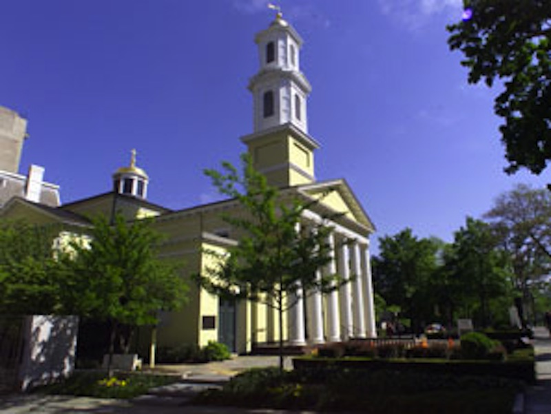 This 2009 file photo shows St. John's Episcopal Church in Washington D.C. Episcopal bishops approved an official prayer service for blessing same-sex couples Monday, July 9, 2012 at a national convention.