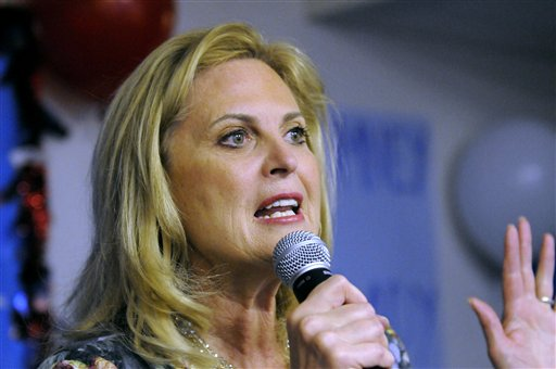 Ann Romney, wife of Republican presidential candidate Mitt Romney, speaks in Atlanta in this March 1, 2012, photo.