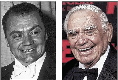 Ernest Borgnine, seen in 1956, left, and in 2010, died Sunday.