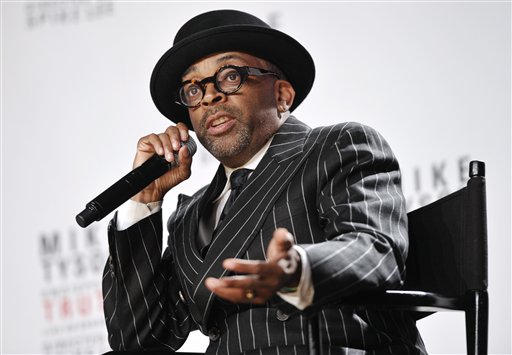 This June 18, 2012 file photo shows director Spike Lee talking about his Broadway directorial debut
