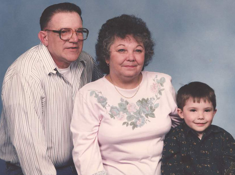 Charles Tyler Sr. and his wife, Patricia, with their grandson, Tyler Crosby, about 20 years ago.