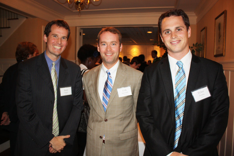 Sean Duggan, Libra Future Fund trustee, Erik Hayward, president of the Libra Future Fund, and Tyler Hobbs, co-director of Summer in Maine.