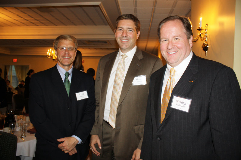 Craig Denekas, president and CEO of the Libra Foundation, Shawn Gorman, senior vice president for brand communications for L.L. Bean, and Sterling Kozlowski, district president for Key Bank.