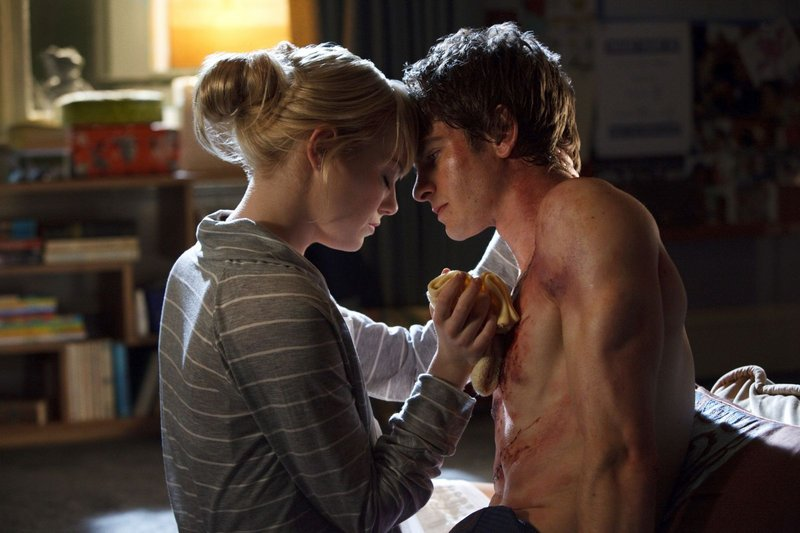 "Andrew Garfield is Peter Parker, and Emma Stone is Gwen Stacy in ""The Amazing Spider-Man."""