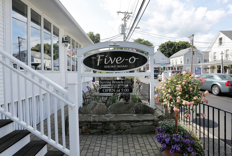 Five-O has a lounge area that offers an escape from the bustling street in Ogunquit. There's a full bar with half a dozen beers on tap and a martini menu with standards and unique mixes.