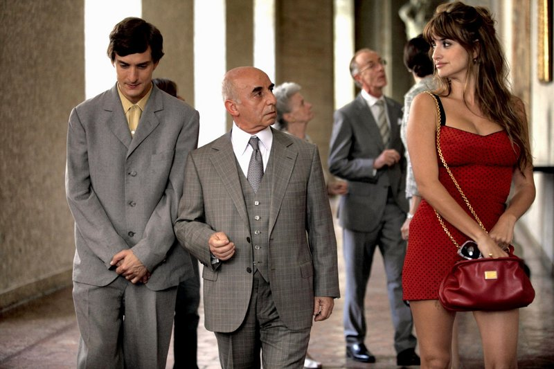 "Alessandro Tiberi, left, Roberto Della Casa and Penelope Cruz in ""To Rome With Love."""
