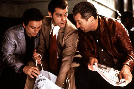 "Joe Pesci, Ray Liotta and Robert De Niro in ""Goodfellas,"" directed by Martin Scorsese and edited by Thelma Schoonmaker. The film screens Tuesday at the Waterville Opera House."